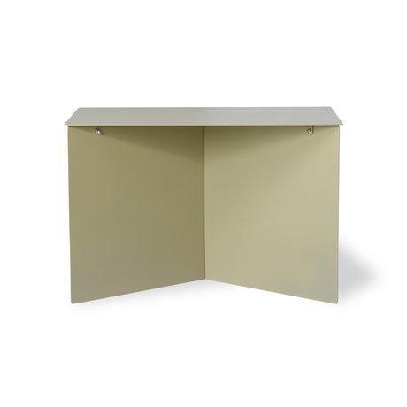 HK-living Side table rectangular olive green metal 60x45x35cm