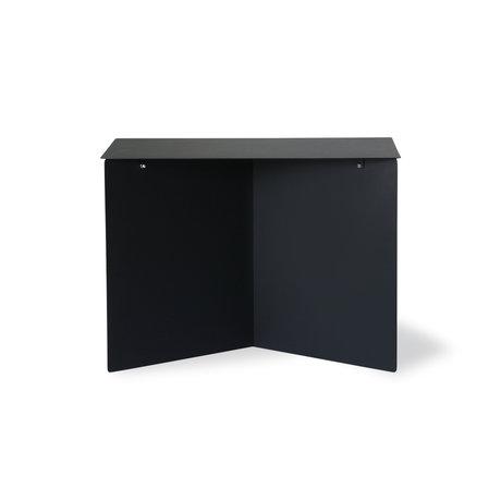 HK-living Bijzettafel rectangular zwart metaal 55x36x40cm
