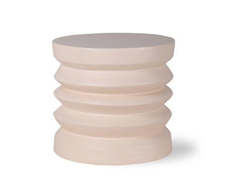 HK-living Table d'appoint en grès crème pierre 38x38x36cm