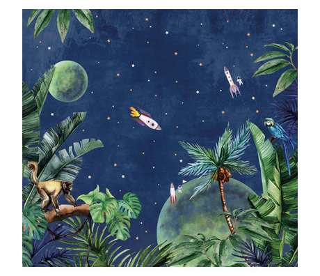 Creative Lab Amsterdam Behang Jungle to Space Mural multicolour vliesbehang 292,2x280cm