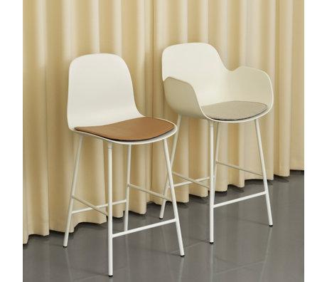 Normann Copenhagen barstool backrest form white plastic steel 75cm