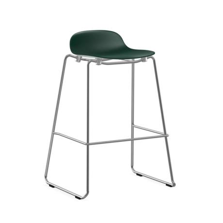 Normann Copenhagen bar stool stacking form green plastic chrome 75cm