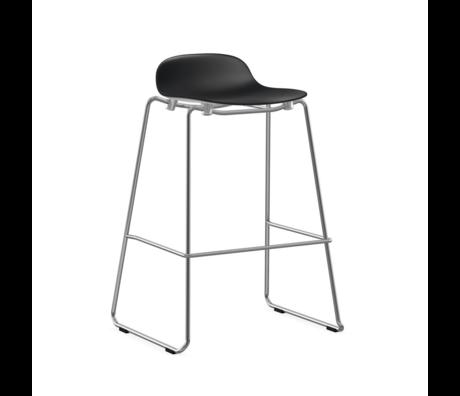 Normann Copenhagen bar stool stacking form black plastic chrome 75cm