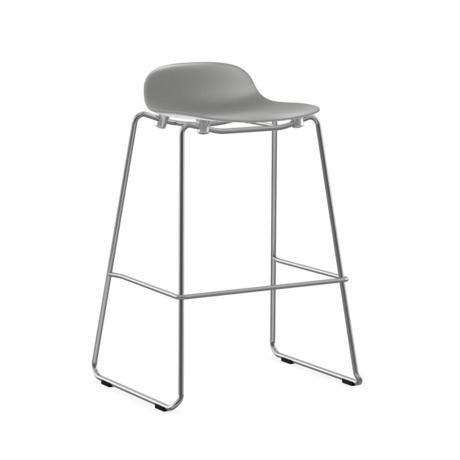 Normann Copenhagen bar stool stacking form gray plastic chrome 75cm