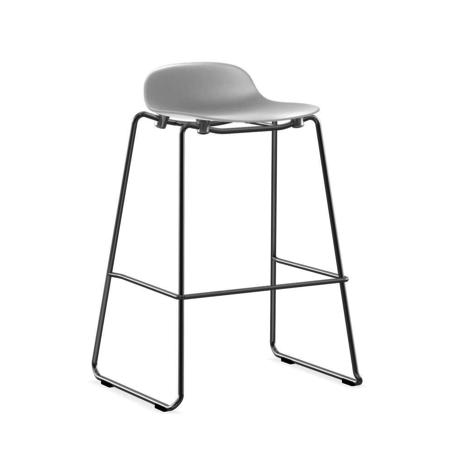 Normann Copenhagen bar stool stacking form white plastic chrome 75cm