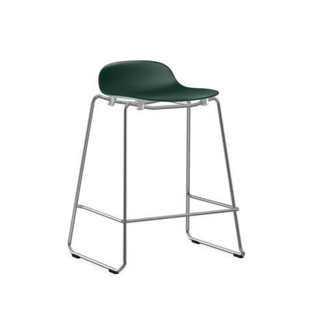 Normann Copenhagen bar stool stacking form green plastic chrome 65cm