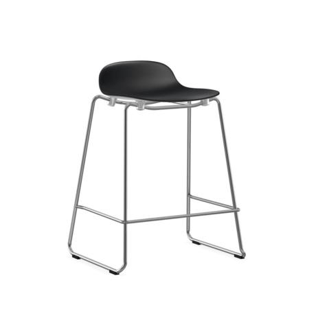 Normann Copenhagen bar stool stacking form black plastic chrome 65cm