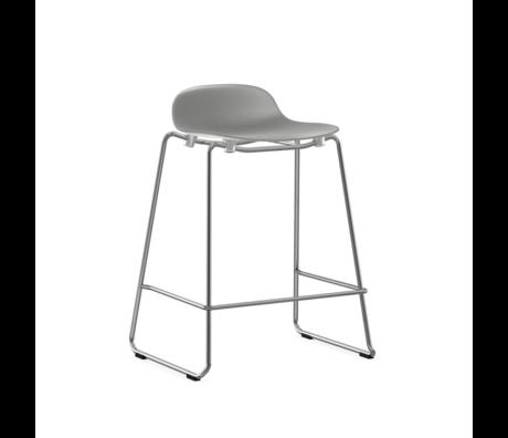 Normann Copenhagen bar stool stacking form gray plastic chrome 65cm