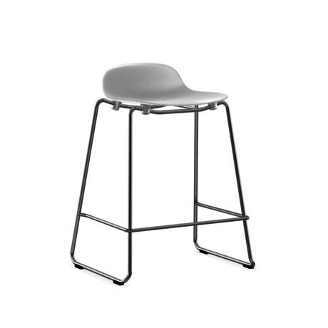 Normann Copenhagen bar stool stacking form white plastic chrome 65cm