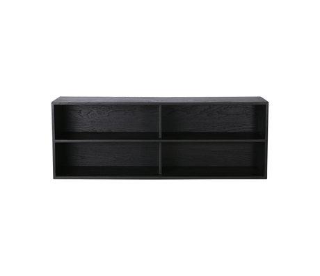 HK-living Cabinet module shelving element A black 100x30x36cm