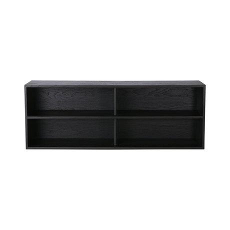 HK-living Regalelement des Schrankmoduls A schwarz 100x30x36cm