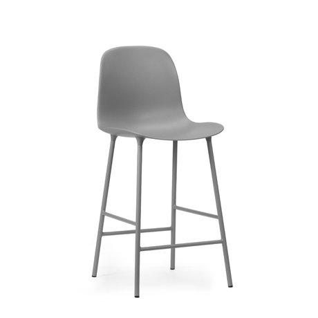 Normann Copenhagen bar stool backrest form gray plastic steel 65cm