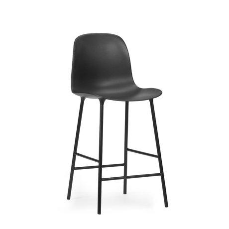 Normann Copenhagen bar stool backrest form black plastic steel 65cm