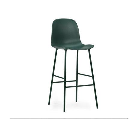 Normann Copenhagen bar stool backrest form green plastic steel 65cm