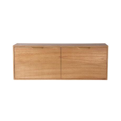 HK-living Kabinet module drawer element B naturel bruin 100x30x36cm