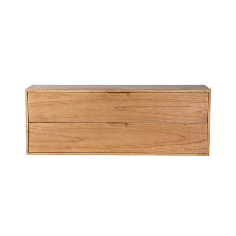 HK-living Kabinet module drawer element C naturel bruin 100x30x36cm