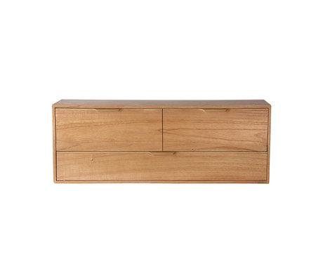 HK-living Schrankmodul Schubladenelement D naturbraun 100x30x36cm