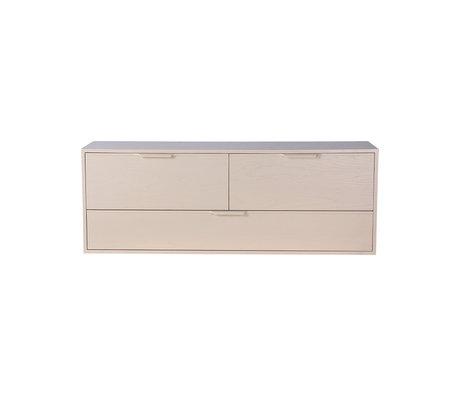 HK-living Schrankmodul Schubladenelement D sandbraun 100x30x36cm