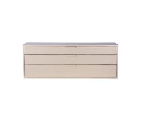 HK-living Cabinet module drawer element E sand brown 100x30x36cm