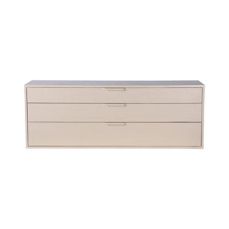 HK-living Kabinet module drawer element E zand bruin 100x30x36cm