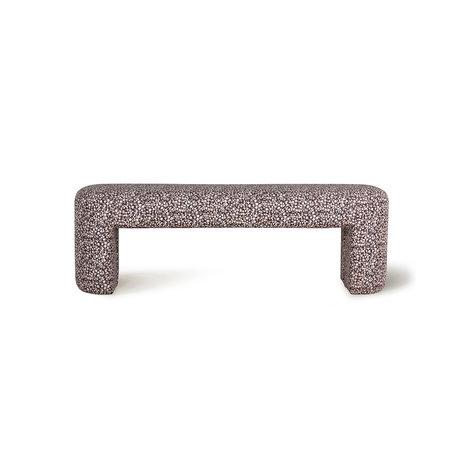 HK-living Lobby-Sofa Doris für Hkliving Blumendruck 140x40x45cm