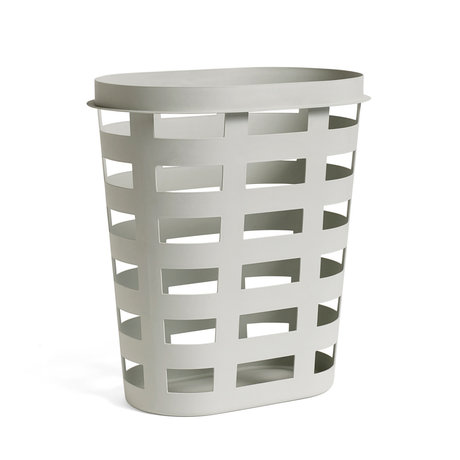 HAY wasmand laundry basket l lichtgrijs plastic 57,5x37,5x62cm