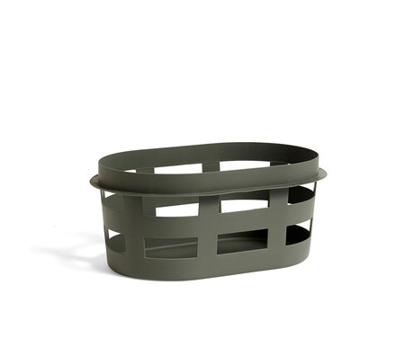 HAY wasmand basket s donkergroen plastic 57,5x37,5x24cm