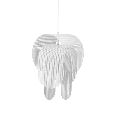 Normann Copenhagen Hanglamp Superpose wit gepoedercoat metaal Ø30x53cm