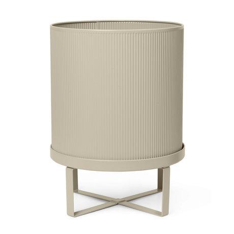 Ferm Living Pot Bau Large Cashmere staal ø28x38cm