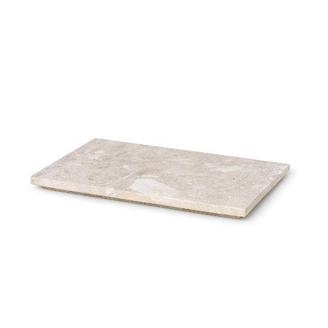 Ferm Living Dienblad voor Plantbox Beige Marmer 26x17x1,5cm
