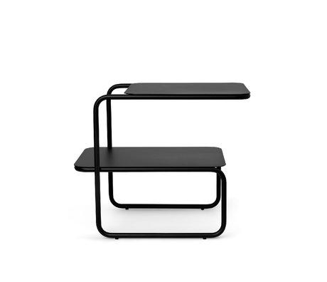 Ferm Living Bijzettafel Level Zwart Gepoedercoat Staal 55x35x45cm