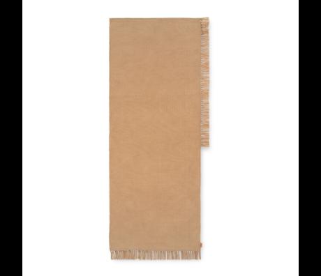 Ferm Living Vloerkleed Hem Runner Zand Textiel 70x180cm