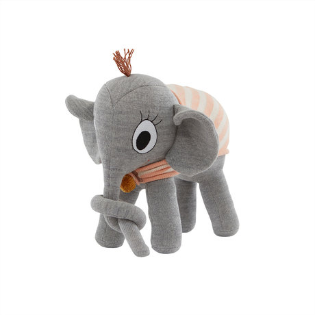 OYOY Knuffel Ramboline Elephant Grijs Katoen 35x16x36cm