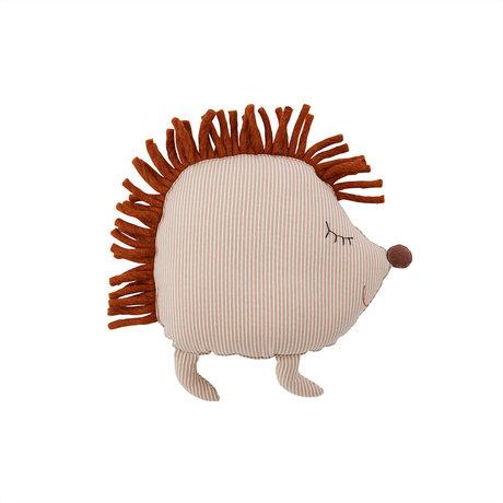 OYOY Kussen Hope Hedgehog Denim Beige Katoen 36x14x40cm