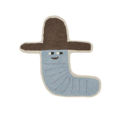OYOY Vloerkleed Calle Cowboy Multicolor Wol Katoen 85x82cm