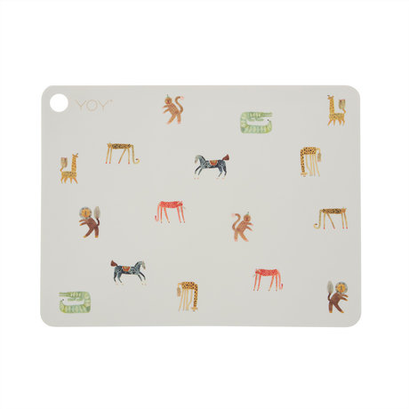 OYOY Placemat Moira Gebroken Wit Siliconen 45x34cm