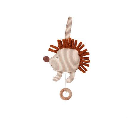 OYOY Muziekmobiel Hoop Hedgehog Beige Katoen Polyester 15,5x8x15cm