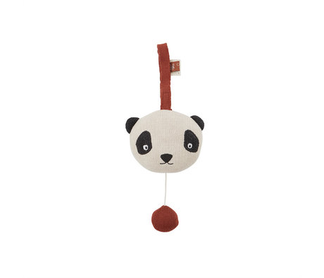 OYOY Muziekmobiel Panda Multicolor Katoen Polyester 13,2x8x10,2cm