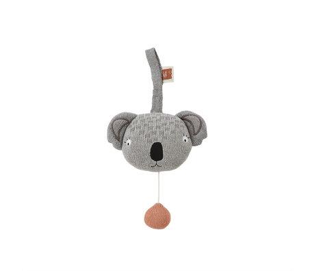 OYOY Muziekmobiel Koala Grijs Katoen Polyester 14,5x8x10,5cm