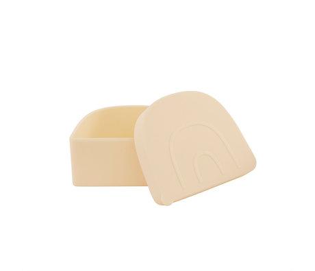 OYOY Lunchbox Rainbow Snack Lichtgeel Siliconen 11,5x9,7x5cm