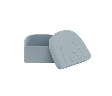 OYOY Lunchbox Rainbow Snack Lichtblauw Siliconen 11,5x9,7x5cm