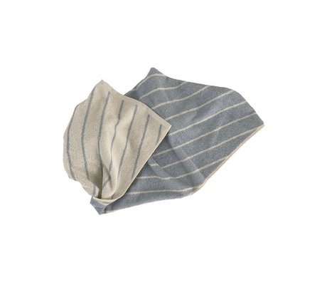 OYOY Handdoek Raita Mini Creme Lichtblauw Katoen 40x60cm
