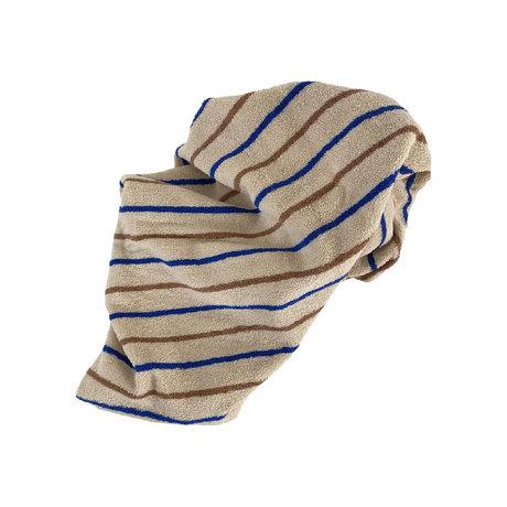 OYOY Handdoek Raita Medium Bruin Blauw Katoen 140x70cm