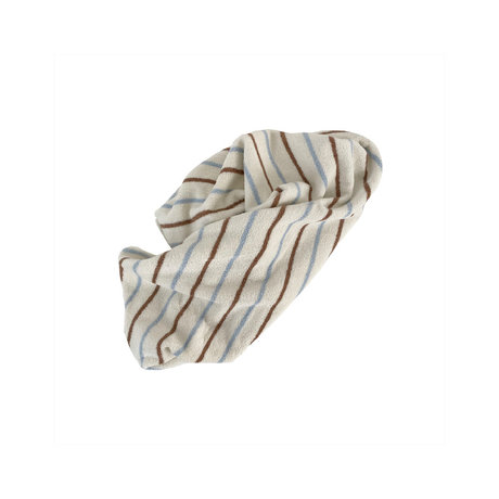 OYOY Handdoek Raita Bruin Lichtblauw Katoen 100x50cm