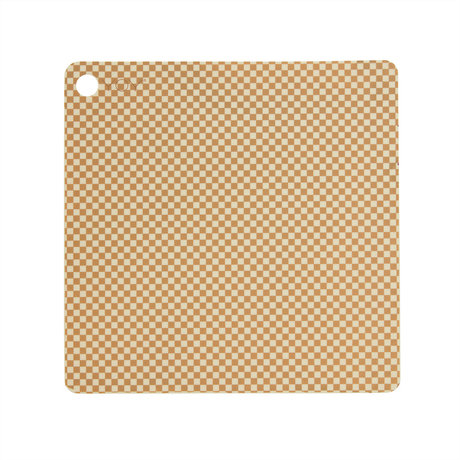 OYOY Placemat Checker Creme Siliconen 38x38cm set van 2