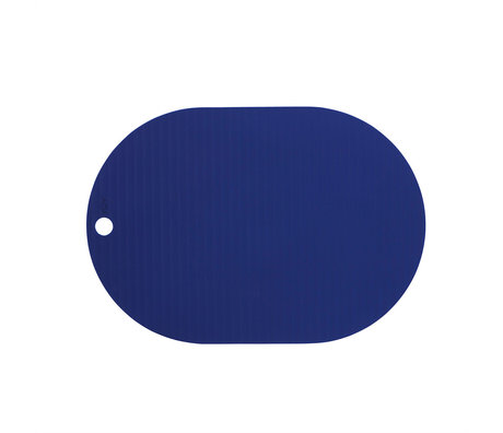 OYOY Placemat Ribbo Blauw Siliconen 46x33cm set van 2