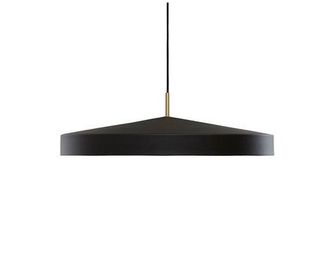 OYOY Hanglamp Hatto Large Zwart Gepoedercoat Metaal Ø65x19cm