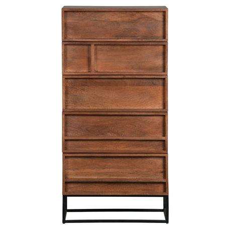 WOOOD Ladenkast 5 Forrest mango hout 121x60x40cm