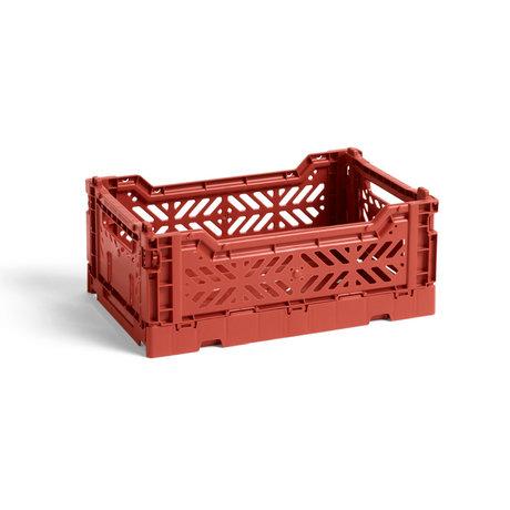 HAY Krat Colour Crate S Terracotta Kunststof 26,5x17x10,5cm