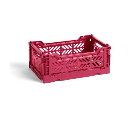 HAY Krat Colour Crate S Donkerpaars Kunststof 26,5x17x10,5cm